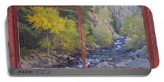 Colorado St Vrain Canyon Red Rustic Picture Window Frame Photos  Portable Battery Charger