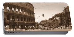 Colosseum In Sepia Portable Battery Charger