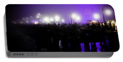 Portable Battery Charger featuring the photograph Cool Night At Santa Monica Pier by Clayton Bruster