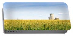 Corn Field With Silos Portable Battery Charger
