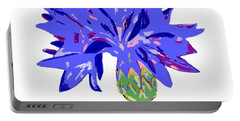 Portable Battery Charger featuring the digital art Cornflower by Barbara Moignard