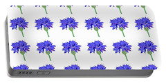 Portable Battery Charger featuring the digital art Cornflowers by Barbara Moignard
