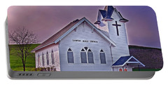 Portable Battery Charger featuring the photograph Country Church At Sunset Art Prints by Valerie Garner