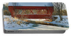 Covered Bridge Portable Battery Charger by Eunice Gibb