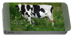 Cow In The Flowers Portable Battery Charger