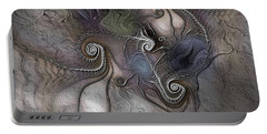 Portable Battery Charger featuring the digital art Creatively Calcified by Casey Kotas