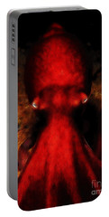 Creatures Of The Deep - The Octopus - V4 - Red Portable Battery Charger