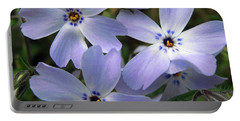 Portable Battery Charger featuring the photograph Creeping Phlox by J McCombie
