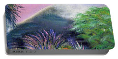 Portable Battery Charger featuring the painting Croagh Patrick by Alys Caviness-Gober