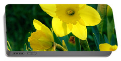 Portable Battery Charger featuring the photograph Daffodils by Sherman Perry