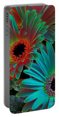 Daisies From Another Dimension Portable Battery Charger by Rory Sagner