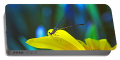 Daisy And Dragonfly Portable Battery Charger by Kay Lovingood