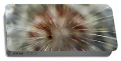 Portable Battery Charger featuring the photograph Dandelion Fluff by Kay Lovingood