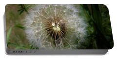 Portable Battery Charger featuring the photograph Dandelion Going To Seed by Sherman Perry