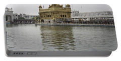 Darbar Sahib And Sarovar Inside The Golden Temple Portable Battery Charger by Ashish Agarwal