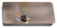 Dark-eyed Junco Taking Flight Portable Battery Charger by Sean Griffin