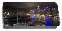 Darling Harbor Sydney Skyline 2 Portable Battery Charger by Douglas Barnard