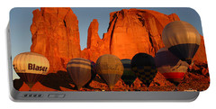 Portable Battery Charger featuring the photograph Dawn Flight In Monument Valley by Vivian Christopher