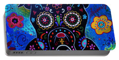 Day Of The Dead Bulldog Portable Battery Charger