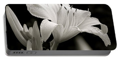 Daylily Study In Bw Iv Portable Battery Charger