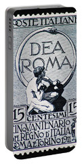 Portable Battery Charger featuring the photograph Dea Roma by Andy Prendy