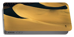 Death Valley And Photographer In Morning Sun Portable Battery Charger