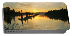 Portable Battery Charger featuring the photograph Delta Sunset by Albert Seger