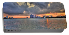 Detroit Sunset  Portable Battery Charger
