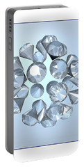 Portable Battery Charger featuring the digital art Diamonds... by Tim Fillingim