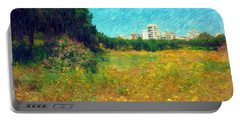 Portable Battery Charger featuring the photograph Do-00479 Bois Des Pins - Impressionist by Digital Oil