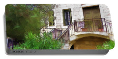 Portable Battery Charger featuring the photograph Do-00490 Balcony Of Old House by Digital Oil