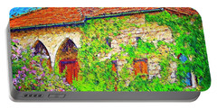 Portable Battery Charger featuring the photograph Do-00530 Old House by Digital Oil