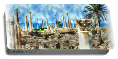 Do-00550 Ruins And Columns Portable Battery Charger