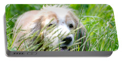 Dog In The Green Grass Portable Battery Charger