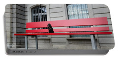 Dog On A Big Red Bench Portable Battery Charger