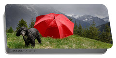 Dog On The Top Of A Mountain Portable Battery Charger