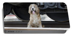 Dog Under A Train Wagon Portable Battery Charger