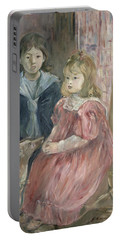 Double Portrait Of Charley And Jeannie Thomas Portable Battery Charger