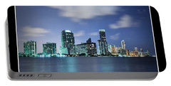 Portable Battery Charger featuring the photograph Downtown Miami At Night by Carsten Reisinger