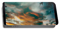 Portable Battery Charger featuring the photograph Drama In The Sky by Nina Prommer