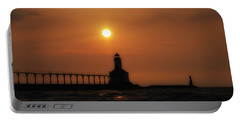 Dreamy Sunset At The Lighthouse Portable Battery Charger