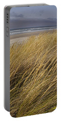 Dune Grass On The Oregon Coast Portable Battery Charger by Mick Anderson