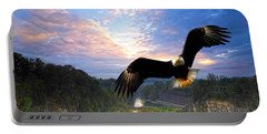 Portable Battery Charger featuring the photograph Eagle At Paint Creek Dam by Randall Branham
