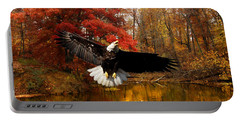 Portable Battery Charger featuring the photograph Eagle In Autumn Splendor by Randall Branham