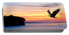 Portable Battery Charger featuring the photograph Eagle Sunrise by Randall Branham