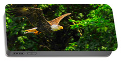 Portable Battery Charger featuring the photograph Eagle Taking Lunch To Her Babies by Randall Branham