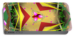 Portable Battery Charger featuring the digital art Eaorling Flower by Mario Carini