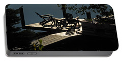 Portable Battery Charger featuring the photograph Early Morning At The Lake by Cindy Manero