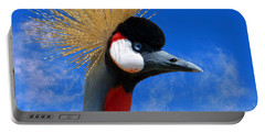 East African Crowned Crane Portable Battery Charger by Methune Hively