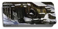 Eastern University Waterwheel Historic Place Portable Battery Charger by Sally Weigand